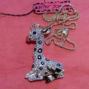 Betsey Johnson Jewelry - Adorable giraffe necklace NWT